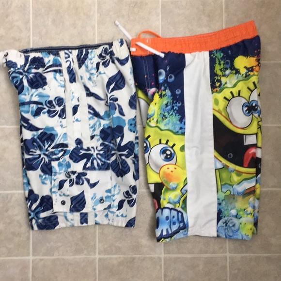 a77956b5eb0c6 Spongebob and OP Boys Swim Shorts Size 8 Bundle. M_5b147a4c34a4efb3948c6653